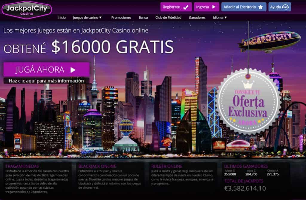 Bono JackpotCity Casino