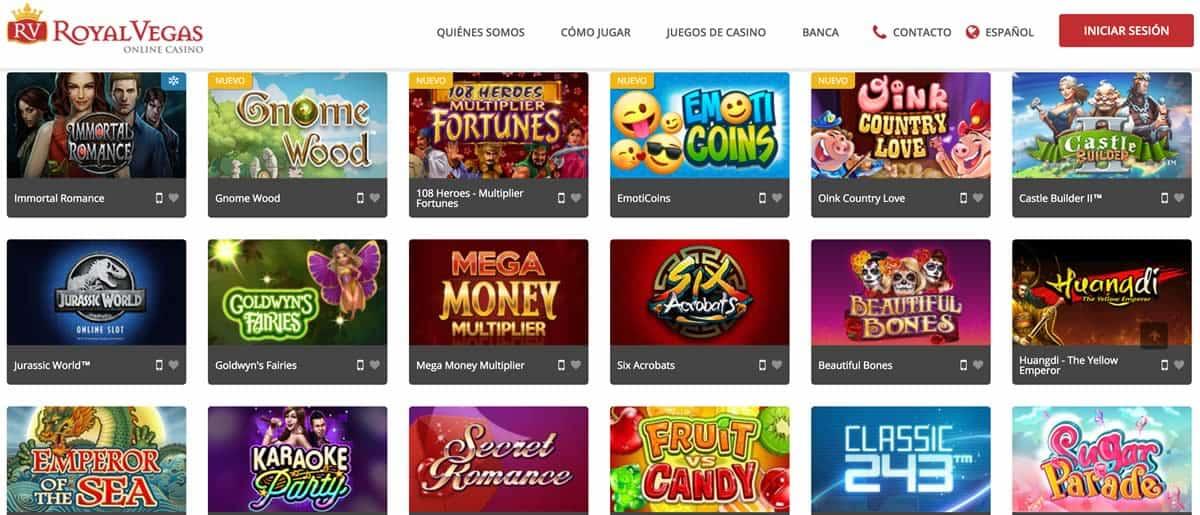 Juegos Royal Vegas Casino