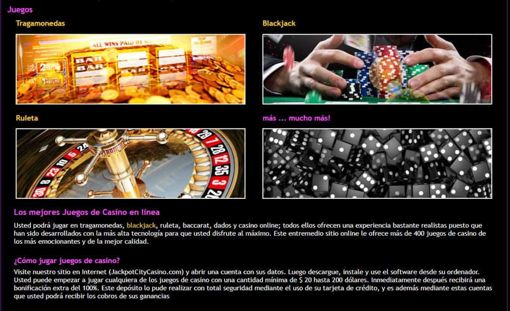 Juegos Casino JackpotCity