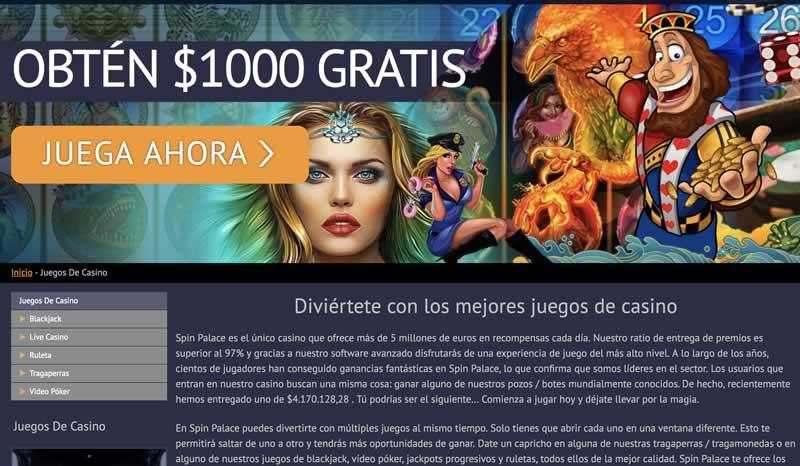 Juegos Spinpalace Casino