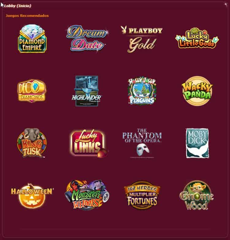 Juegos Ruby Fortune Casino